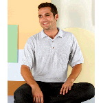 Adult Ultra Blend Jersey Polo with 5-Point Pocket