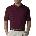 Adult Cotton Deluxe� Short-Sleeve Pique Polo