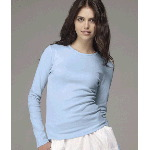 Ladies Long-Sleeve Crewneck T-Shirt