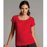 Ladies Short-Sleeve Scoop-Neck T-Shirt