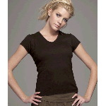 Ladies Short-Sleeve V-Neck T-Shirt