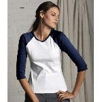 Ladies Two-Tone 3/4-Sleeve Raglan T-Shirt
