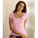 Ladies Margot Sheer Rib Short-Sleeve Scoop-Neck T-Shirt