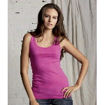 Ladies Rachel Sheer Rib Tank Top