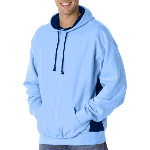 Adult Cross-Grain Fleece Colorblock Hood