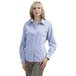 Ladies Non-Iron Button-Down Box Check Shirt