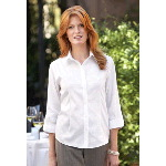 Ladies 3/4-Sleeve Non-Iron Pinpoint Oxford