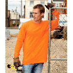 Adult Long-Sleeve Pocket Tee-Shirt