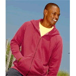 Adult Heavyweight Frayed Full-Zip Hooded Sweatshirt