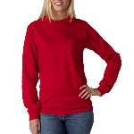Adult Ultra Cotton� Long-Sleeve Pocket T-Shirt