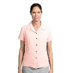Ladies Short Sleeve Silk Blend Camp Shirt
