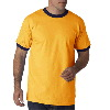 Anvil Adult Heavyweight Ringer Tee Gold/Navy