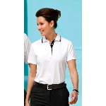 Ladies Rapid Dry Sport Shirt with Contrast Trim