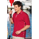 Dri-Mesh Sport Shirt with Tipped Collar and Piping