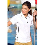 Ladies Dri-Mesh� Sport Shirt with Tipped Collar and Piping