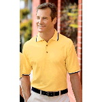 Cool Mesh� Sport Shirt with Tipping Stripe Trim