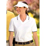 Ladies Cool Mesh� Sport Shirt with Tipping Stripe Trim