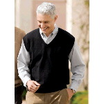 Fine-Gauge V-Neck Sweater Vest