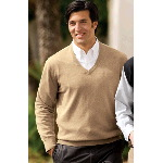 Fine-Gauge V-Neck Sweater