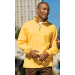 Sueded Finish 1/4 Zip Sweatshirt