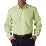 Mens Classic Wrinkle-Free Long-Sleeve Oxford