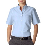 Ladies Classic Wrinkle-Free Short-Sleeve Oxford