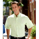 Mens Classic Wrinkle-Free Short-Sleeve Oxford
