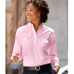 Ladies Classic Wrinkle-Free Long-Sleeve Oxford