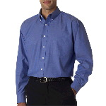 Mens Long-Sleeve Performance Pinpoint