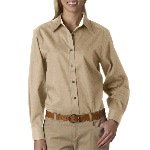 Ladies Sanded Gabardine Long-Sleeve Shirt