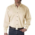 Mens Cypress Colors Long-Sleeve Woven with Pocket