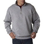 Adult SUPER SWEATS� 1/4-Zip Pullover with Cadet Collar