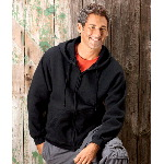 Adult Super Cotton Full-Zip Hooded Sweatshirt