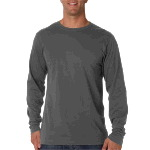Mens Ring-Spun Organic Cotton Long-Sleeve Crewneck Tee