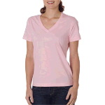 Ladies Ring-Spun Organic Cotton Short-Sleeve V-Neck Tee