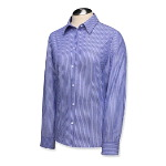 Womens Long Sleeve Epic Easy Care Pin Stripe