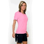 Womens Marathon Short Sleeve V-Neck Training Tee