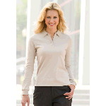 Womens Balmoral Sueded Long Sleeve Jersey Polo