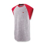 Mens Cotton Jersey Raglan Cap-Sleeve Tee