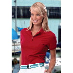 Ladies Silkwash Classic Solid Pique Polo Shirt