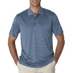 Mens Pinstripe Performance Polo Shirt