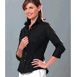 Ladies 3/4 Sleeve Dress Twill Shirt