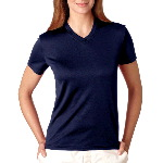 Ladies Cool-N-Dry Sport V-Neck Tee