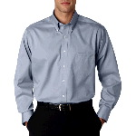 Mens Long-Sleeve Non-Iron Pinpoint Oxford Shirt