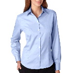 Ladies Long-Sleeve Non-Iron Pinpoint Oxford Shirt
