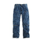 Washed Denim Double Front Jean