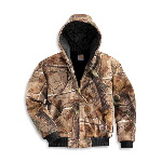 WorkCamo� AP Active Jacket, Quilted-Flannel Lined
