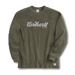 Long Sleeve Textured-Knit Graphic Crewneck