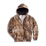 Midweight WorkCamo® AP Hooded Zip-Front Sweatshirt