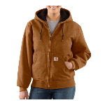Womens Sandstone Active Jacket, Quilted Flannel Lined